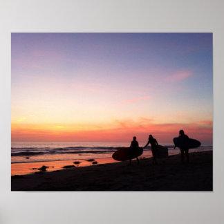 Poster Surfers de San Diego