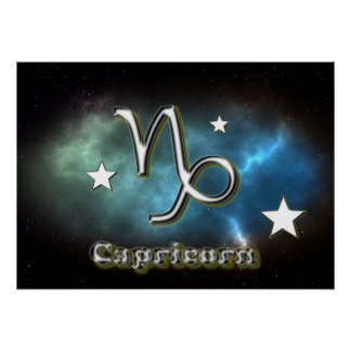 Poster Symbole de Capricorne