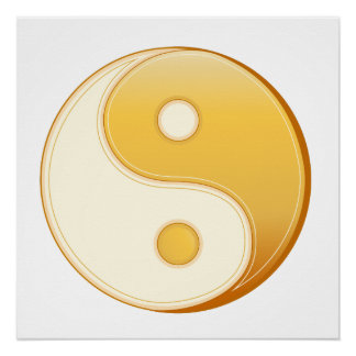 Poster Symbole de Taoism