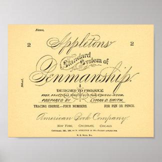 Poster Système de la calligraphie