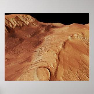 Poster Système /Mars de canyon de Chasma_Valles Marineris