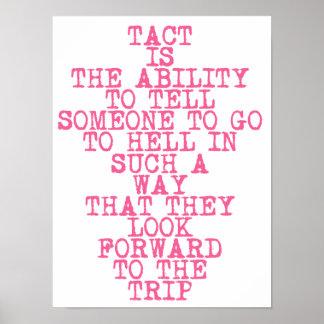 Poster TACT - affiche avec l'amusement, citation