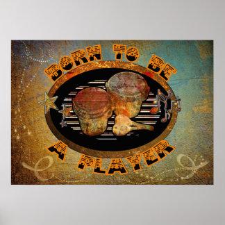 Poster Tambours de bongo de joueur ID281