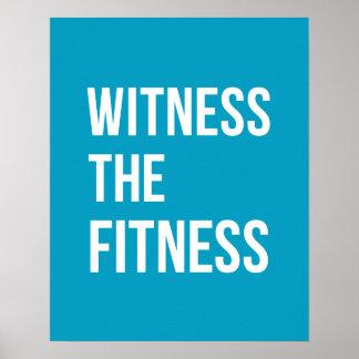 Poster Témoin de cotation de sauvetage le bleu de forme