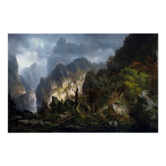 Poster Tempête de Hermann Herzog dans les montagnes