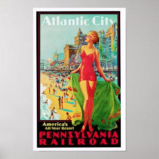 Poster Terrain de jeu de l'année de l'Amérique de ~ d'Atl