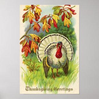 Poster Thanksgiving vintage Turquie