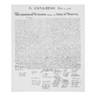 Poster The unanimous declaration