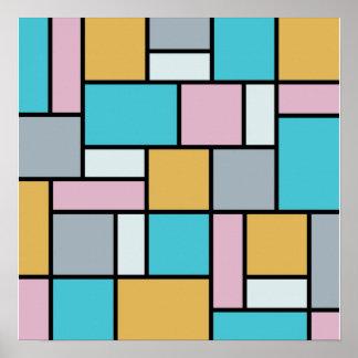 Poster Theo van Doesburg - composition 17 - art de