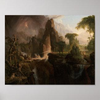 Poster Thomas Cole - expulsion du jardin d'Éden