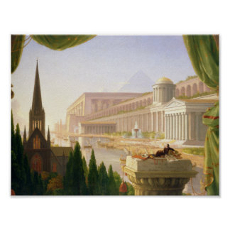 Poster Thomas Cole - le rêve de l'architecte