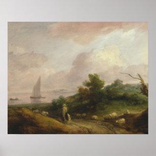 Poster Thomas Gainsborough - paysage côtier