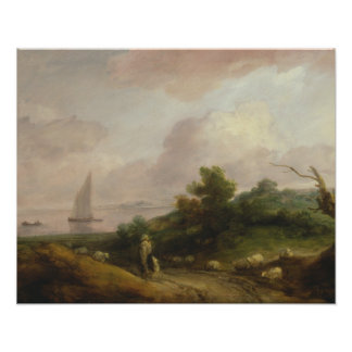 Poster Thomas Gainsborough - paysage côtier