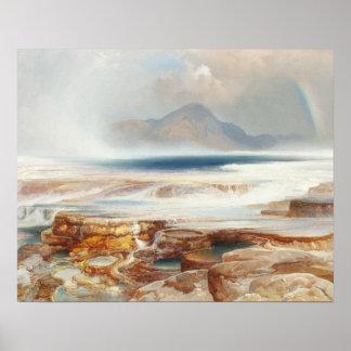 Poster Thomas Moran - Hot Springs du Yellowstone