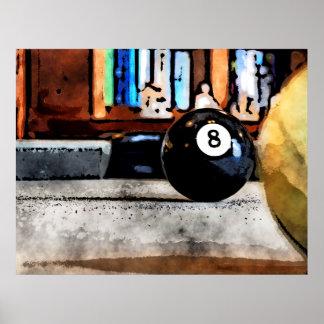 Poster Tir pour la boule huit