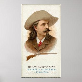 Poster Tireur 1887 de fusil de Buffalo Bill