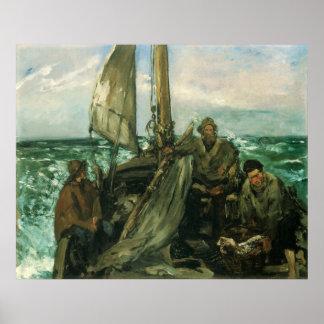 Poster Toilers de la mer par Manet, impressionisme