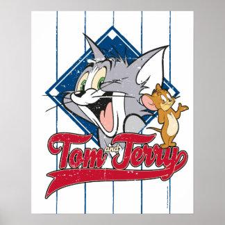 Poster Tom et Jerry | Tom et Jerry sur le diamant de