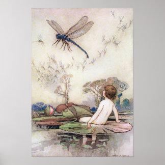 Poster Tom rencontre la libellule par Warwick Goble