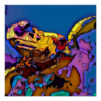Poster Tortue de mer de mosaïque