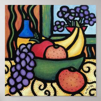 Poster Toujours bol de fruit lunatique de la vie