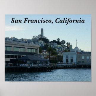 Poster Tour de Coit, affiche de San Francisco #3-1