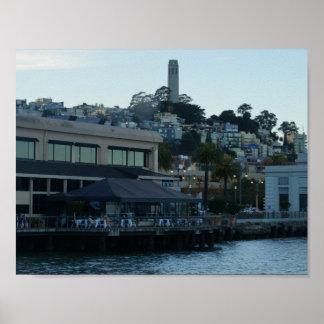 Poster Tour de Coit, affiche de San Francisco #3-2