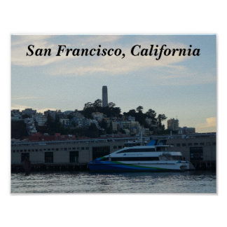 Poster Tour de Coit, affiche de San Francisco #4