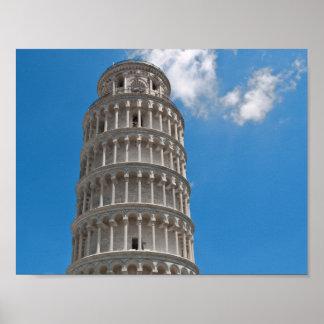 Poster Tour penchée de Pise en Italie