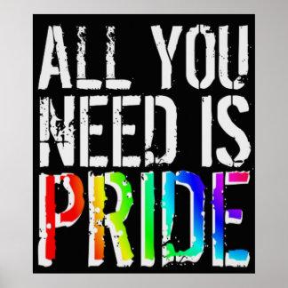 Poster Tout que vous avez besoin est fierté
