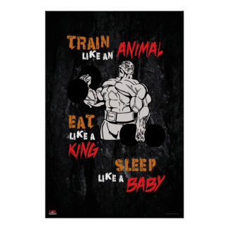Poster Train comme un animal