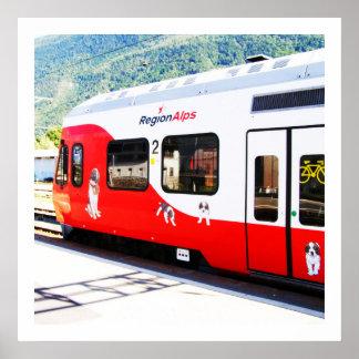 Poster Train d'Alpes de région