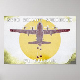 Poster trente-sixième Escadron de transport aérien nous