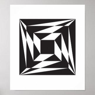 Poster Trois étapes pour centrer géométrique