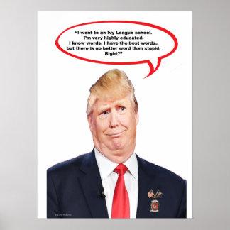 Poster Trumped vers le haut de la copie mate