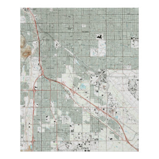 Poster Tucson Arizona Map (1992)