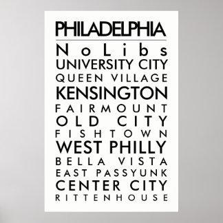 Poster Txt de noir de taille d'affiche des capots 24x36
