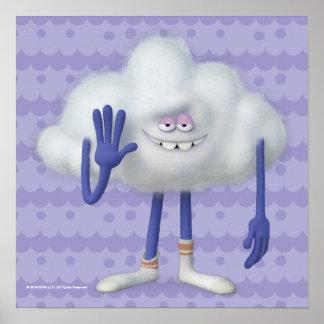 Poster Type de nuage des trolls |