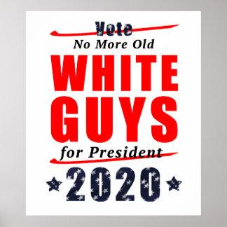 Poster Types blancs pas vieux pour la vitesse de