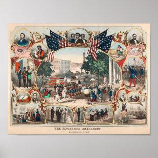 Poster U.S. Histoire : Le quinzième amendement