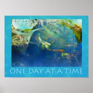 Poster Un étang de Koi de jour à la fois