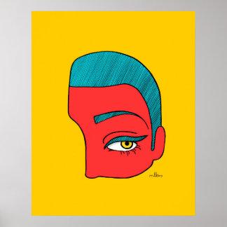 Poster Un morceau de visage