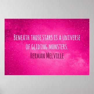 Poster Une belle citation de Herman Melville pour votre