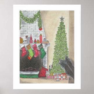 Poster Une copie de surprise de Noël