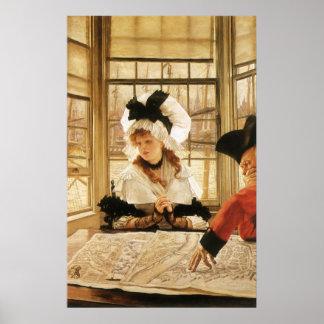 Poster Une histoire pénible par James Tissot, beaux-arts