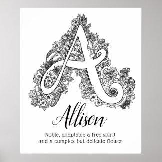 Poster Une signification nommée d'Allison d'art