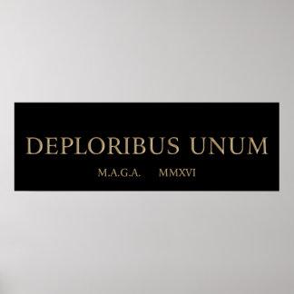 Poster unum de deploribus (deplorables)