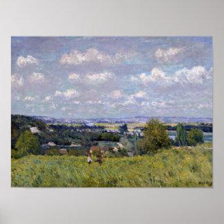 Poster Vallée d'Alfred Sisley | de la Seine au St-Nuage