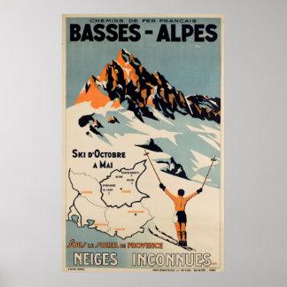 Poster van de Reis van de Ski van Alpes van