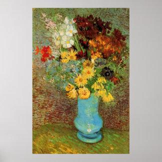 Poster Vase à Van Gogh avec des beaux-arts de marguerites